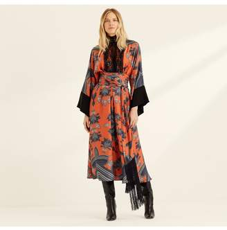 Amanda Wakeley Printed Midi Dress With Kimono Sleeves