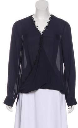 L'Agence Silk Long Sleeve Blouse w/ Tags