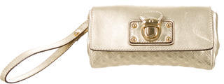 Marc Jacobs Marc Jacobs Metallic Quilted Leather Wristlet