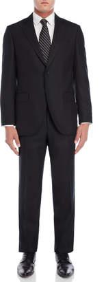 Luigi Bianchi Mantova Black Wool Suit