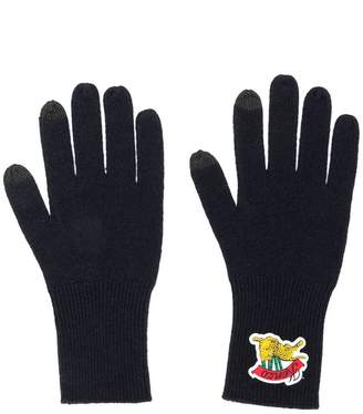 Kenzo logo patch gloves