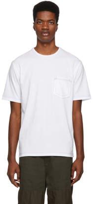 Comme des Garcons Homme White Contrast Stitch T-Shirt