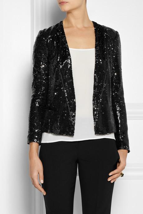 Maje Doucette sequined blazer