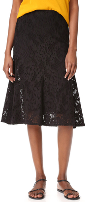 Fuzzi Knee Length Skirt $375 thestylecure.com