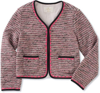 Kate Spade girls' knit tweed jacket, size 7-14