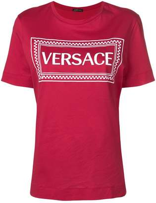 Versace logo patch T-shirt