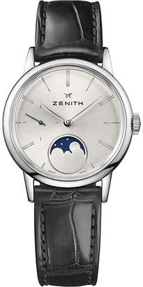 Zenith 03.2330.692/01.C714 Elite Lady moonphase alligator-leather watch