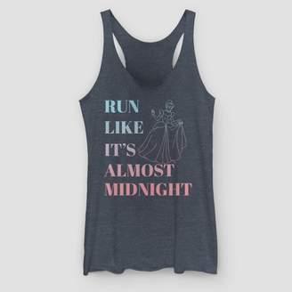 Fifth Sun Women's Disney Run Like It's Almost Midnight Tank Top - Navy