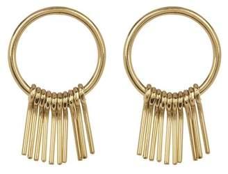 Soko Fringe Round Earrings