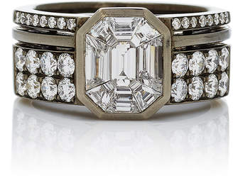 As 29 AS29 Illusion Diamond & 18K Black Gold Ring
