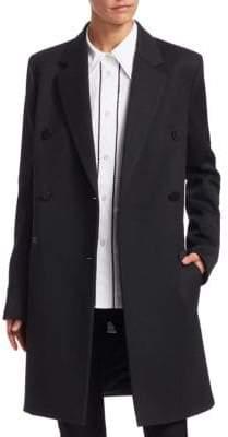 Helmut Lang Wool-Blend Boyfriend Blazer Coat