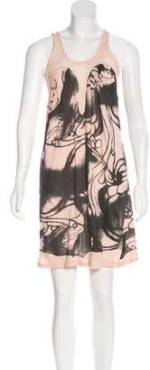 Preen by Thornton Bregazzi Preen Mesh Knit Patterned Dress