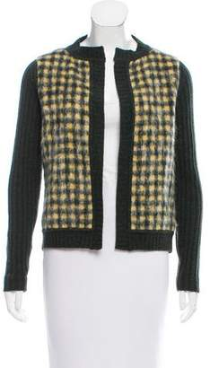 Cividini Wool Checkered Cardigan