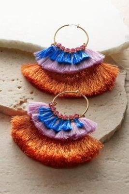 Soft Surroundings Cha Cha Hoop Earrings