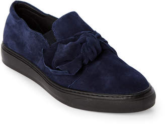 Gabriella Ocean Blue Bow Slip-On Sneakers