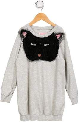 Bang Bang Copenhagen Girls' Embroidered Long Sleeve Sweatshirt