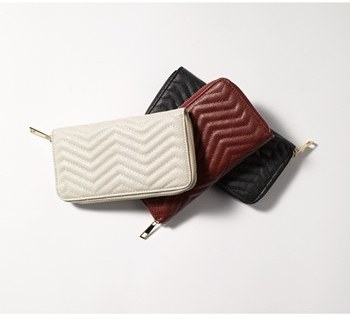 Under One Sky Chevron Quilted Wallet (Juniors)