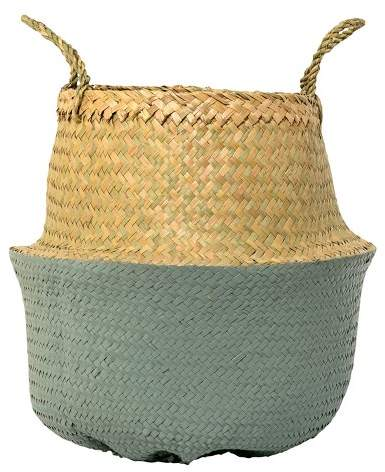 3R Studios Seagrass Basket With Handles (13.75