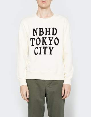 Neighborhood LS Slub Crew Neck Sweatshirt in Natural