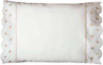 Bovi Fine Linens Twinkle Crib Pillowcase, White/Taupe