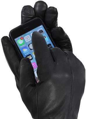 Isotoner Men's Leather Dress Gloves with Touch Screen Technology