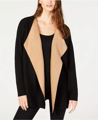 Eileen Fisher Organic Cotton Cascading-Front Cardigan, Regular & Petite