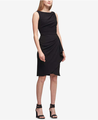 DKNY Draped Scuba Sheath Dress