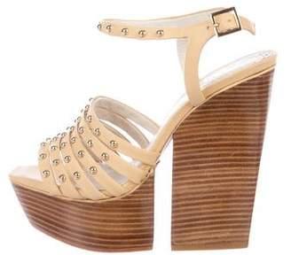 Alice + Olivia Leather Platform Sandals