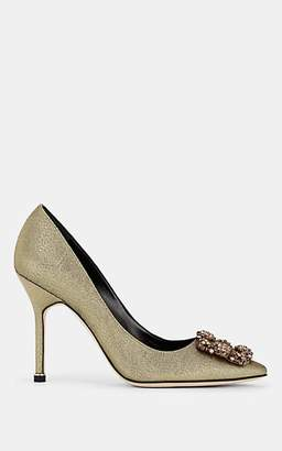 b5ee83f73341 Manolo Blahnik Women s Hangisi Metallic Pumps - Gold Fabric