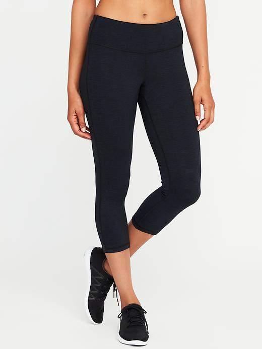 Mid-Rise Go-Dry Capri Leggings for Women