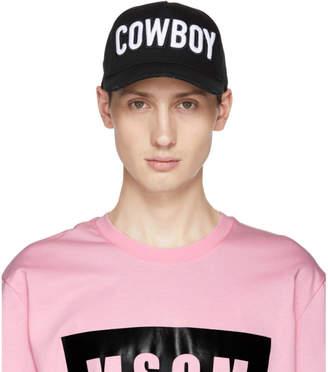 DSQUARED2 Black Cowboy Baseball Cap
