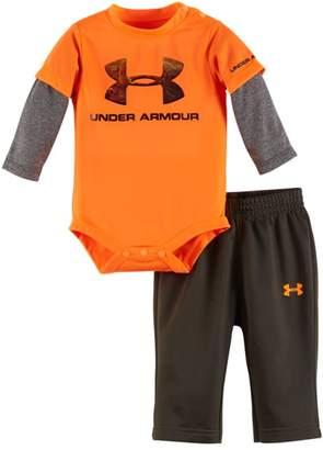 Under Armour Newborn Boys` Bodysuit and Pant Set