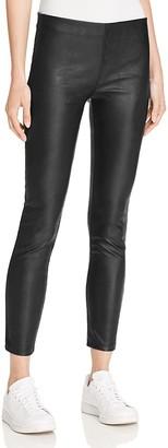 AQUA Faux Leather Ankle Leggings $88 thestylecure.com