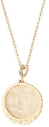 Azlee - 18kt Gold Engraved Lion & Diamond Pendant Necklace - Womens - Gold