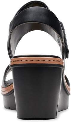 4385de807a5 Clarks Palm Stellar Wedge Sandals - Black