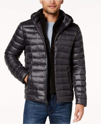 Calvin Klein Men's Packable Down Hooded Puffer Jacket