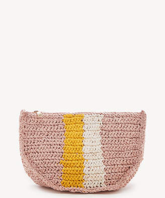 Sole Society Women's Chade Convertible Crossbody Bag Straw Belt Oyster Pink From