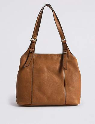 M&S Collection Leather 3 Compartment Hobo Bag