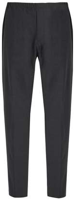 Acne Studios Ari Drawstring Waist Wool Blend Trousers - Mens - Dark Grey