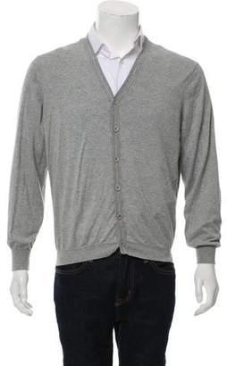 Brunello Cucinelli Woven Button-Up Cardigan