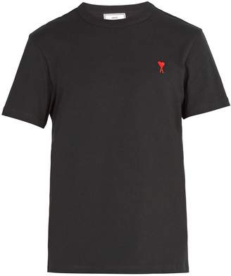 Ami Logo-embroidered cotton T-shirt