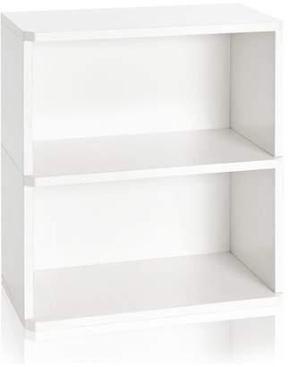 Way Basics Webster 2-Shelf Bookcase and Storage Shelf, Non Toxic zBoard