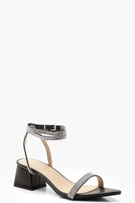 boohoo Embellished Pointed Toe Low Block Heels