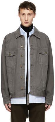 Robert Geller Grey The Lukas Denim Jacket