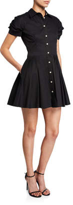 Alexis April Short-Sleeve Fit-&-Flare Shirtdress