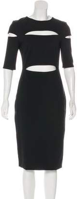 Cushnie et Ochs Short Sleeve Sheath Midi Dress