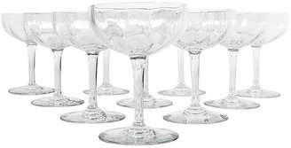 One Kings Lane Vintage Baccarat Champagne Flutes - Set of 10