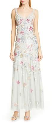Needle & Thread Deconstructed Sequin Evening Dress