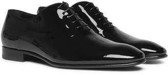 HUGO BOSS Patent-Leather Oxford Shoes - Men - Black
