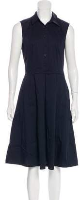 Robert Rodriguez Collared Sleeveless Midi Dress